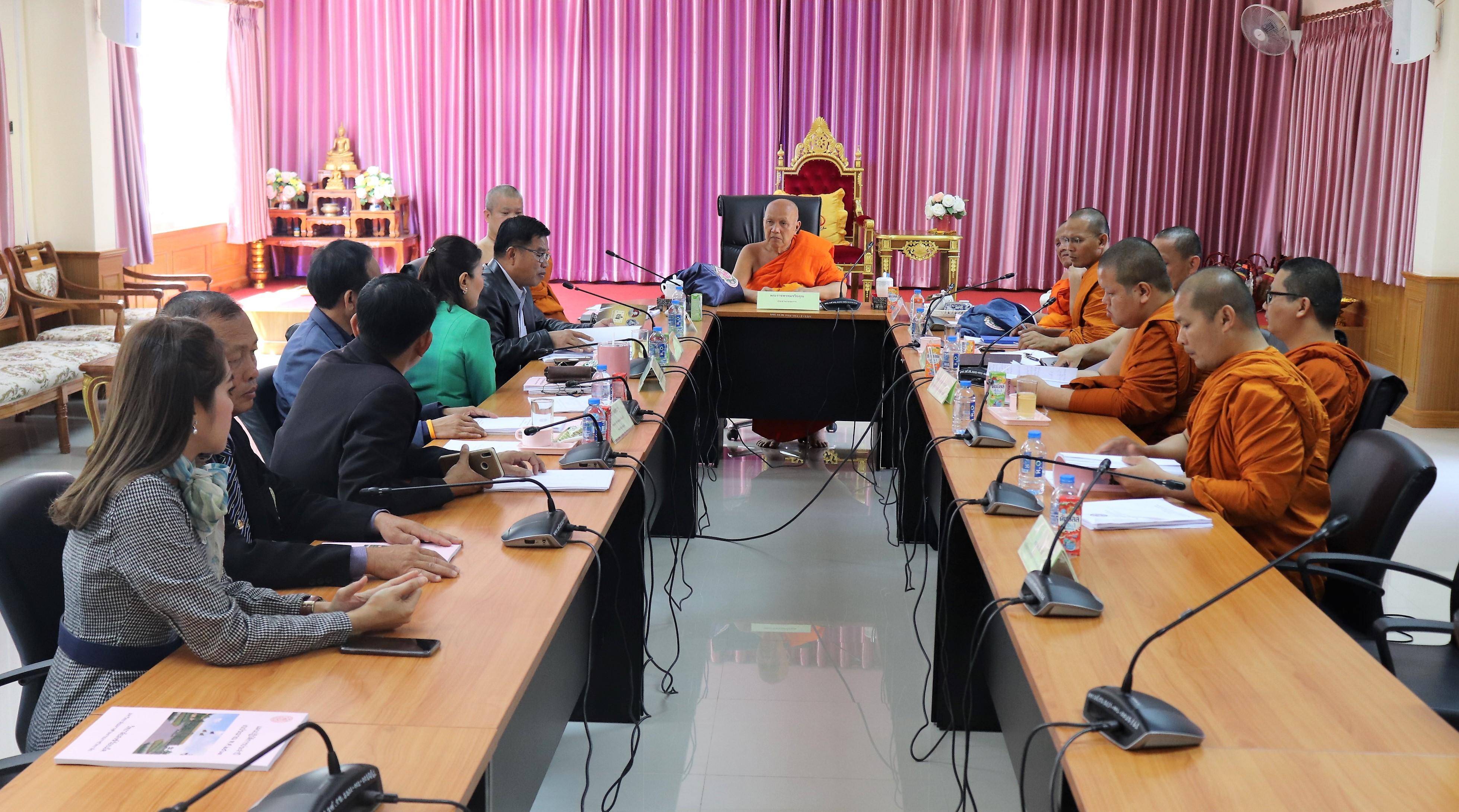 """Photo of """"วิทยาลัยสงฆ์ร้อยเอ็ดแสดงความยินดีในโอกาสรับตำแหน่งผู้อำนวยการสำนักงานพระพุทธศาสนาจังหวัดร้อยเอ็ด"""""""